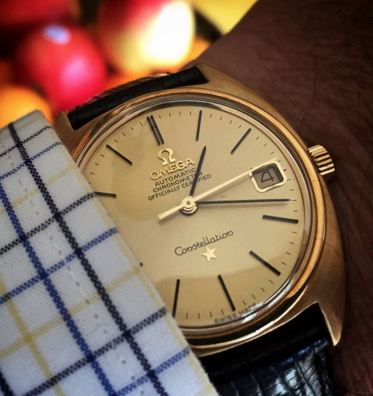 Vintage OMEGA Constellation C-Case Chronometer In Gold Circa 1960s - http://omegaforums.net