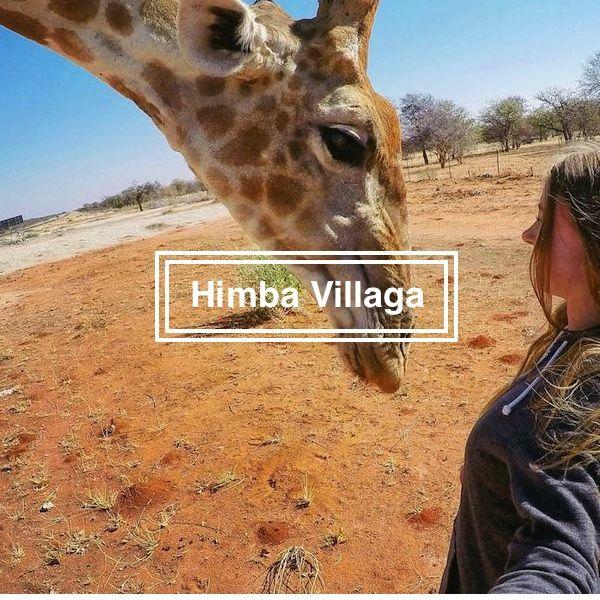 Meet the tame Giraffe in Himba Village