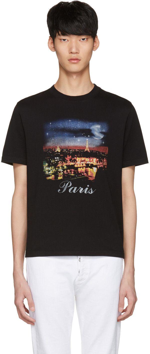 Balenciaga - Black Vintage Paris T-Shirt