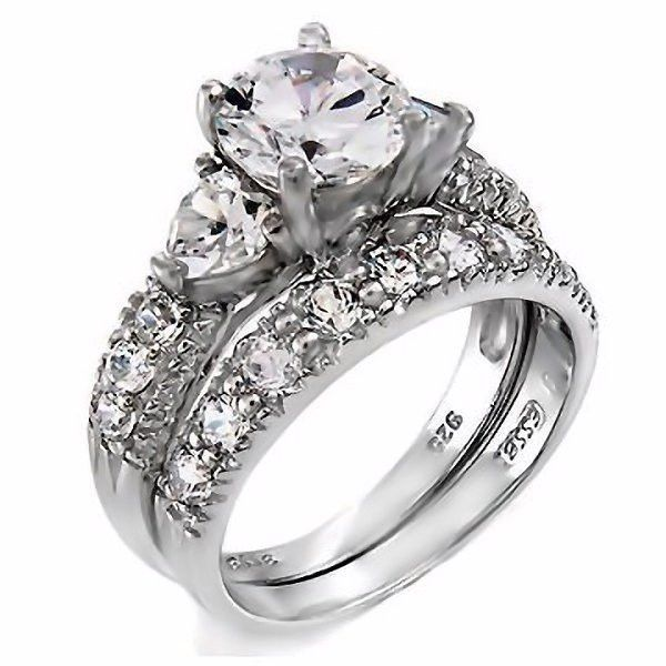 oliana gorgeous 412c russian ice cz diamond 2 piece wedding ring set