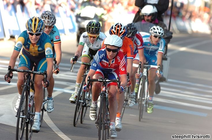 The chase led by Emma Pooley (Great Britain) over 4 minutes back