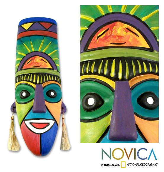 "Ceramic Mask - ""Inca Priest"""