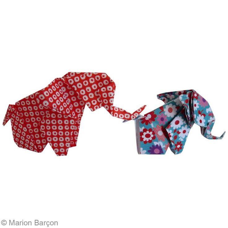 23. Création éléphant en papier origami terminée