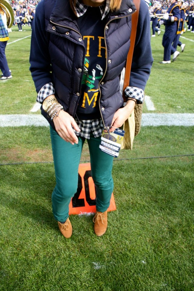 Notre Dame Game Day Fashion