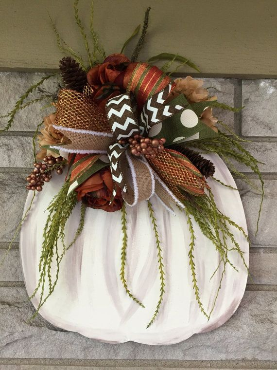 Fall door hangerpumpkin door hanger by shutthefrontdoor2 on Etsy