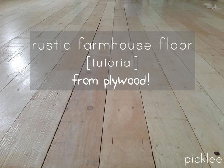 PLYWOOD Rustic Farmhouse Floor Tutorial! Under $200!