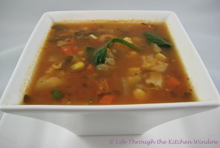 Chili-Seasoned Corn & Cauliflower Soup With Chickpeas & Spinach