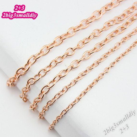 Quantità: 10 metri  Dimensione: n. 1: diametro del filo in ottone - 1mm, larghezza della catena - 4mm; lunghezza - 10 metri; n. 2: ottone filo diametro - 0.7 mm, larghezza della catena - 3,5 mm; lunghezza - 10 metri; n. 3: ottone filo diametro - 0.7 mm, larghezza della catena - 3,5 mm; lunghezza - 10 metri; n. 4: ottone filo diametro - 0,5 mm, larghezza della catena - 2.7 mm; lunghezza - 10 metri; # 5: ottone filo diametro - 0,5 mm, larghezza della catena - 2.3 mm; lunghezza - 10 metri;  (1…