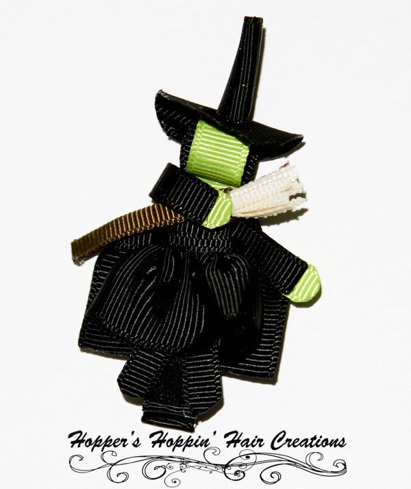 Halloween Ribbon Sculptures | witch