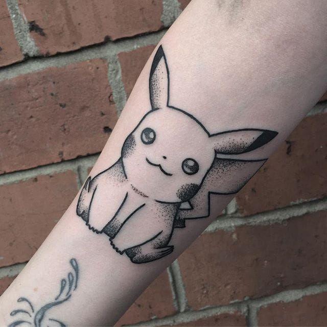 Pikachu Tattoo by Blakey Tattooer pikachu pikachutattoo pikachutattoos pokemon pokemontattoo pokemontattoos pokemongo…