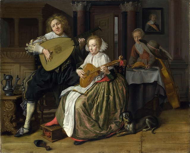 Jan Molenaer - A Young Man and Woman Making Music [c.1630-32]