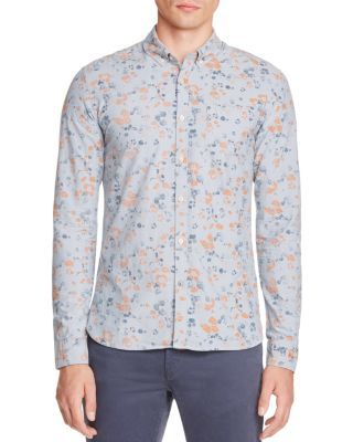 Scotch & Soda Faded Floral Slim Fit Button Down Shirt | Bloomingdale's