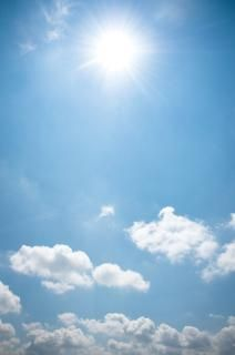 Blue sky with beautiful clouds - good imagery for a wedding day