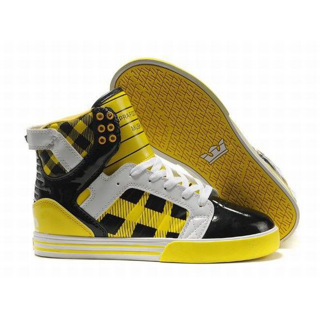 Sale Supra Skytop High Tops Yellow White Black Women's 63577. Supra  ShoesBuy Nike ...