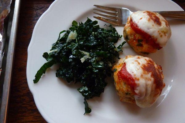 Chicken parm meatballs - yum