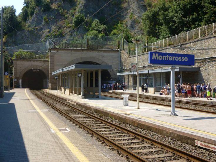 Monterosso rail station near Cinque Terre. www.SimpleTravelDeals.com