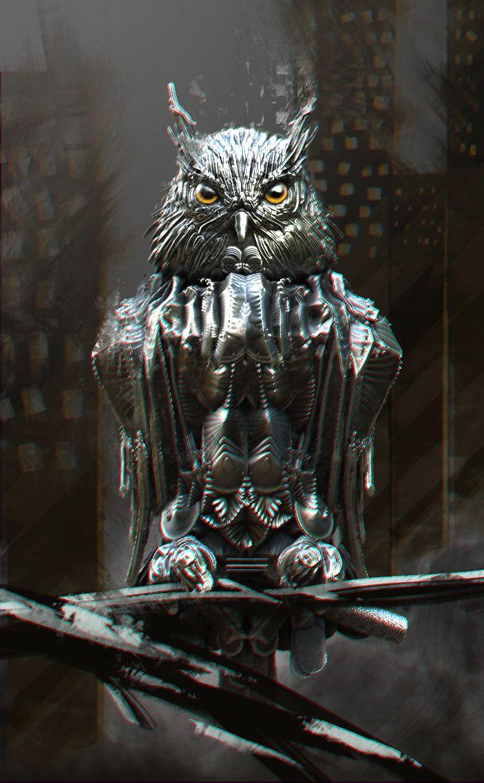 steel owl, Александр Нагорный on ArtStation at https://www.artstation.com/artwork/3aOB2