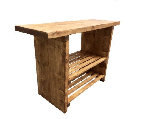 The Large double Racked Basin unit - Vanity unit, bathroom wash stand hand crafted solid beams rustic shabby chic