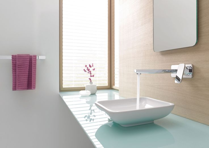 foorni.pl   Nowoczesna łazienka z bateria umywalkową ścienną Kludi E2