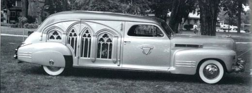 1941 gothic panel hearse by cadillac
