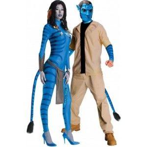 Ik vond dit op Beslist.nl: Kostuum voor koppels: Neytiri en Jake Sully Avatar™}