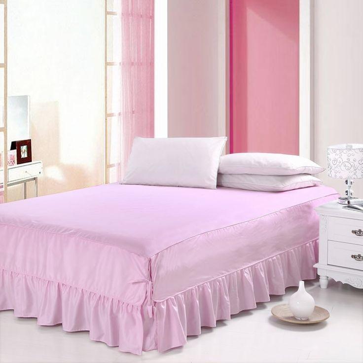 ベッドスカート シーツ 寝具 シンプル 綿 ピンク 150*200cm B6005