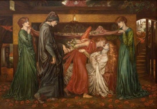 Dante Gabriel Rossetti (1828–1882), Dante's Dream on the Day of the Death of Beatrice, c. 1871, Dundee Art Galleries and Museums Collection (Dundee City Council)