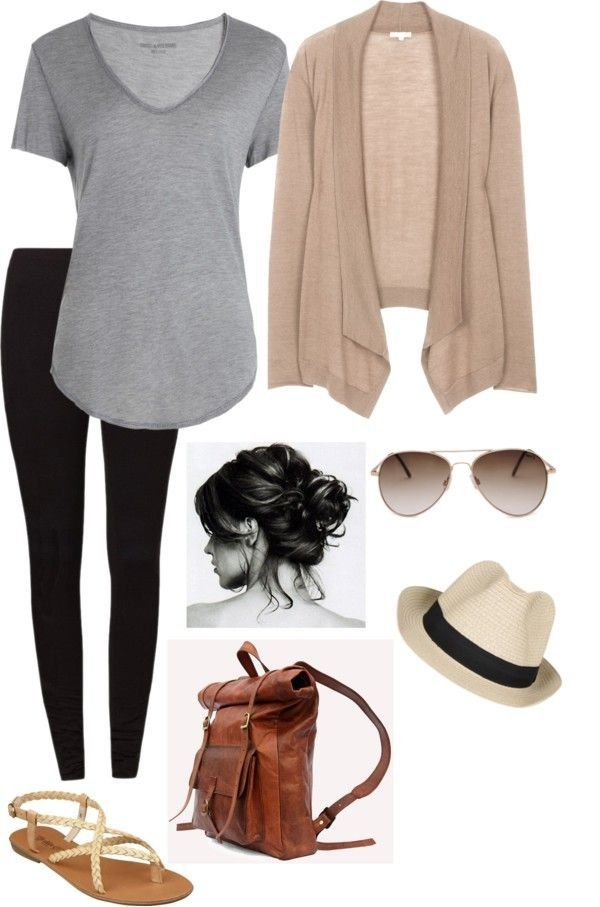 Airport/Casual travel outfit