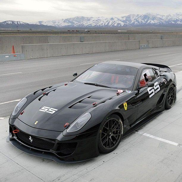 Powerful Black Ferrari 599