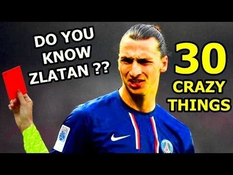 Zlatan Ibrahimovic: 30 funny things he has done - Quotes, interviews, fights - YouTube