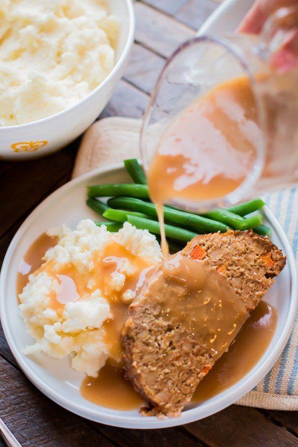 Pan de carne de pavo relleno de estufa de cocción lenta   – Meats