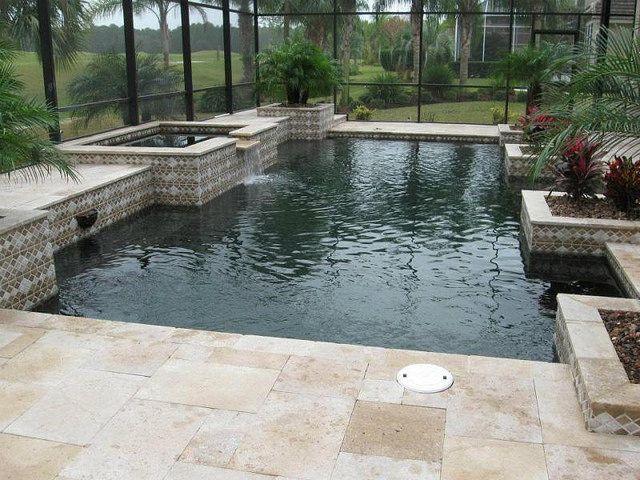 Classicmarciteblkpearl Pool Designs Backyard And Outdoor Living - Black pearl pebble tec pool bottom