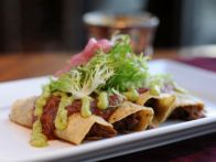 This rich New Mexico style pork dish is easy to make. Serve it with crema and chips, or wrapped in tortillas topped with quac, or in an empanada. Carne Adovada Recipe from Los Dos Molinos in Phoenix, as seen on Food Network