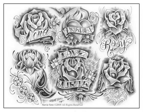 flower drawings flash art flowers and names tattoo flash art flowers names tattoo fine. Black Bedroom Furniture Sets. Home Design Ideas
