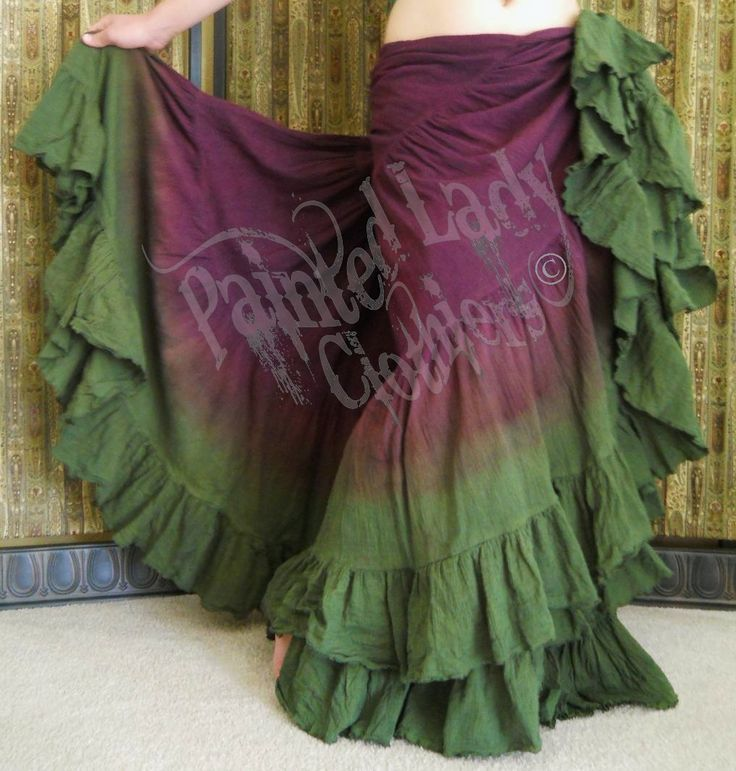 Maroon Brown & Moss Green 25 Yard Petticoat Skirt.  You can order yours here:  http://www.paintedladyemporium.com/Shop-Here.html