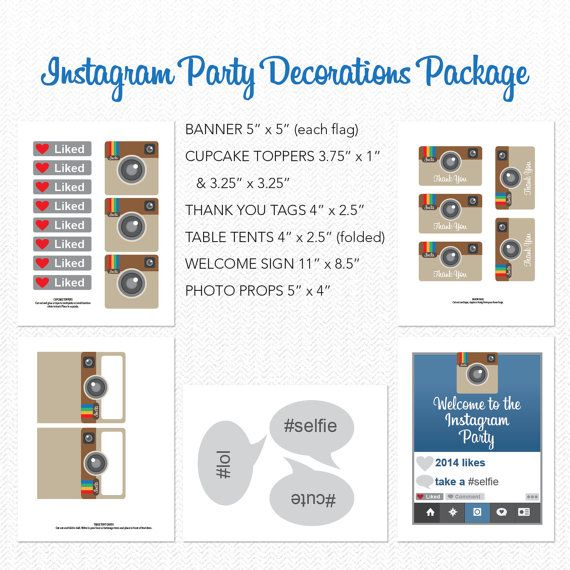 Instant Download Instagram Theme Birthday by CreativeUnionDesign