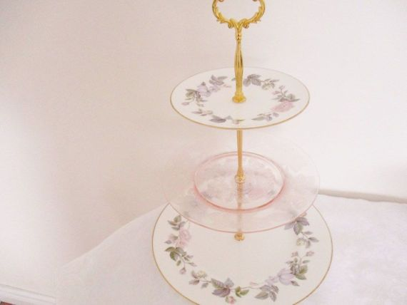 Vintage 3 tier english tea stand by Royal by EnglishGardenTeaShop