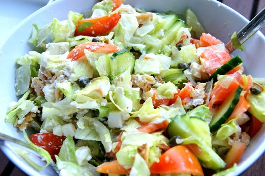 Fall salad with Capers and Salmon