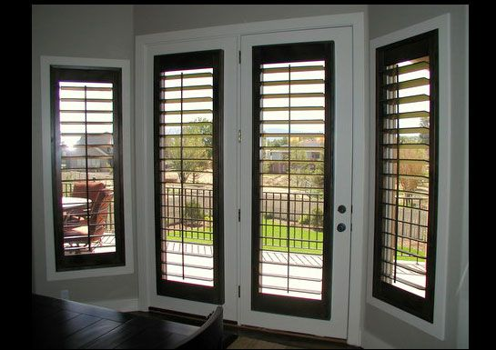 Shutters Paint And Stain Combination Shutters