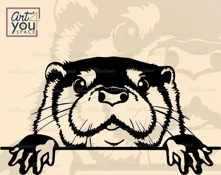 Download Cute Otter SVG, Peeking svg, peekaboo, face, Animal lover ...