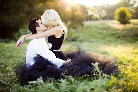 adorable engagement photo