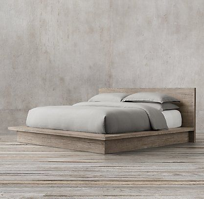 RH's Wood Beds:Those who view the bedroom as an extension of living space will love Restoration Hardware's collection of beds. We feature a variety of beautiful headboards and sleigh beds perfect for reading and relaxation.