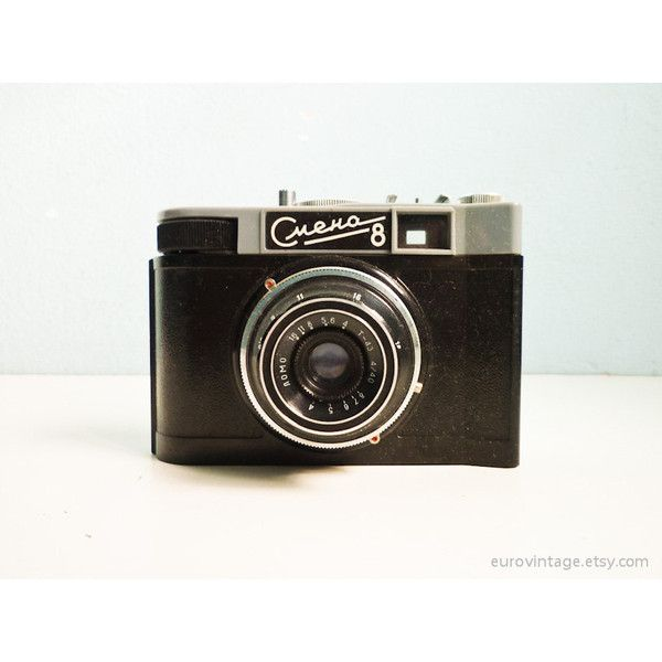 Soviet Vintage Lomo Camera 35mm SMENA 8 (€26) ❤ liked on Polyvore featuring camera, accessories, fillers, images and other