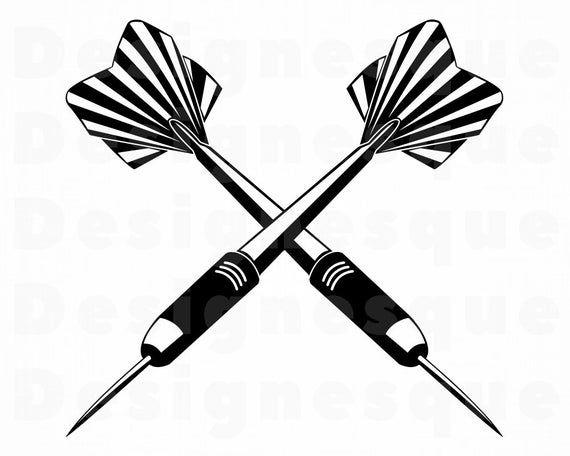 Darts Logo 6 Svg Darts Svg Dart Svg Darts Clipart Darts Etsy In 2021 Star Clipart Clock Clipart Dart