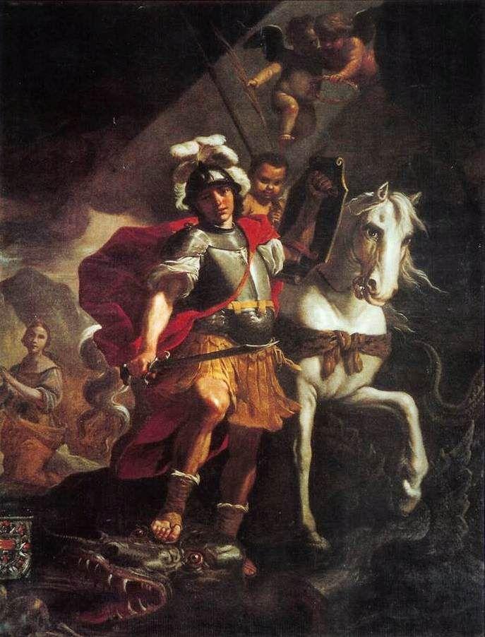 Novena a San Jorge ( o para rezar todos los días cuando  necesitemos)   Día primero  San Jorge , tu que representas el  valor y la fuerza ...