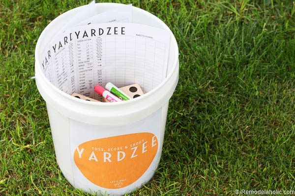 Yardzee Yard Dice Game Tutorial + Printables