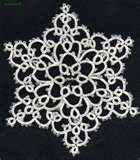 tatted snowflake pattern free - Connie's snowflake - Erin HOLLOWAY
