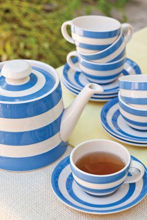T G Green Cornish Blue and White Tea Set