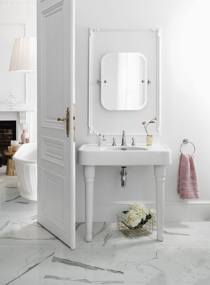 Chrome accessories are perfect for creating an on-trend luxury bathroom - Three hole basin mixer tap with white levers in chrome from Arcade Bathrooms. http://www.arcadebathrooms.com/Products/ProductDetail?prodId=98038&name=Three%20hole%20basin%20mixer%20deck-mounted%20without%20pop%20up%20waste%20-%20chrome%20%20-%20with%20ceramic%20lever