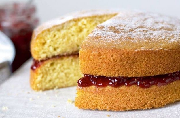 Mary Berry's Victoria sandwich  Different cake sizes.
